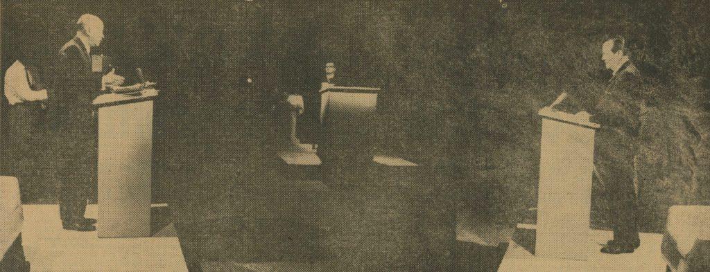 Debate Rafael Caldera-Jóvito Villalba, moderado por Carlos Rangel en RCTV.