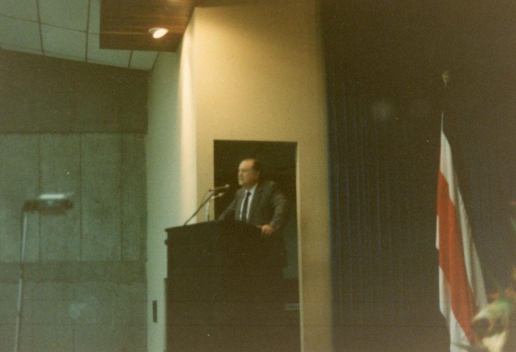 Rafael Caldera en Costa Rica, 1986.
