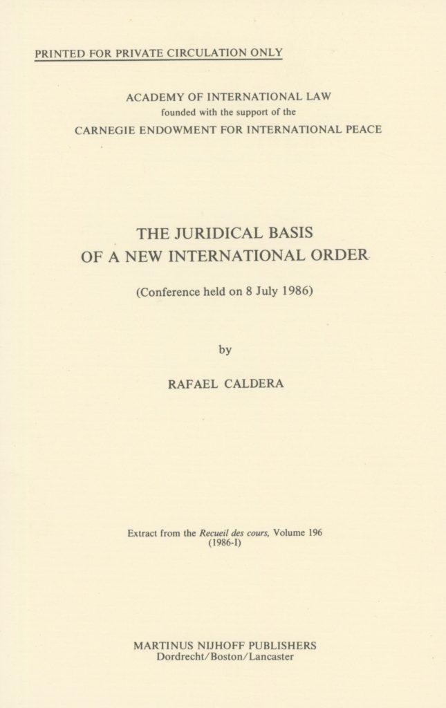 Conferencia Rafael Caldera en La Haya.