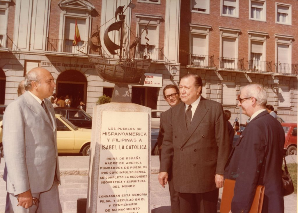 Rafael Caldera en Madrid 1992
